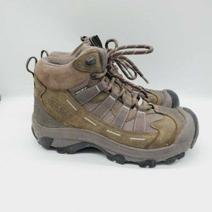 Keen Womens Leather Athletic Hiking Shoes Sz 7.0